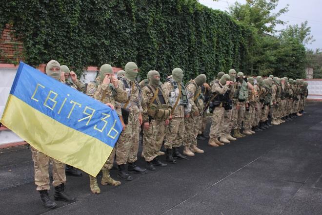 """Рота """"Світязь"""" відправляється у зону АТО. Луцьк, 13 серпня 2014 р."""