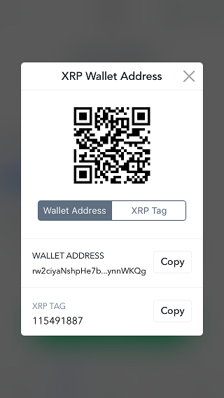 XRP wallet address qr code.
