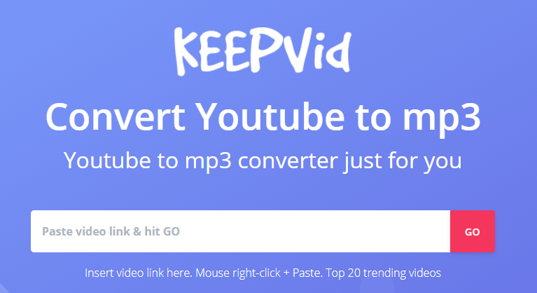 keepvid free mp3 online video downloader