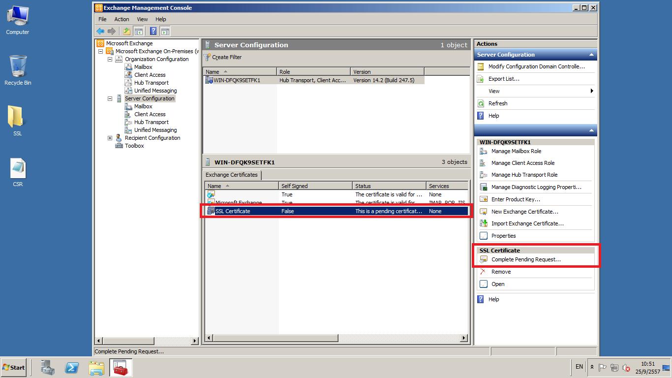 ssl certificate windows server exchange 2010 exchange management console server configuration certificate gen csr 1 blue bar xflitez Images