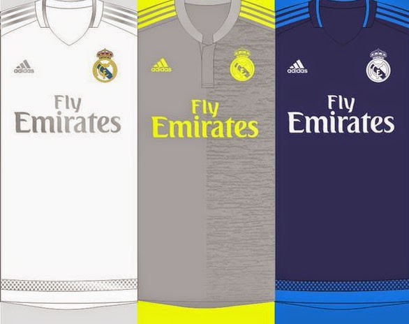 new look of Madrid kits 2015