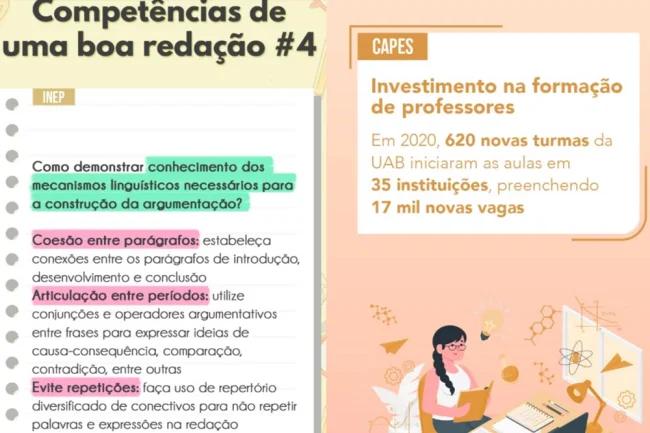 """""""Dicazinhas"""" do MEC nos Stories redação enem 2020"""