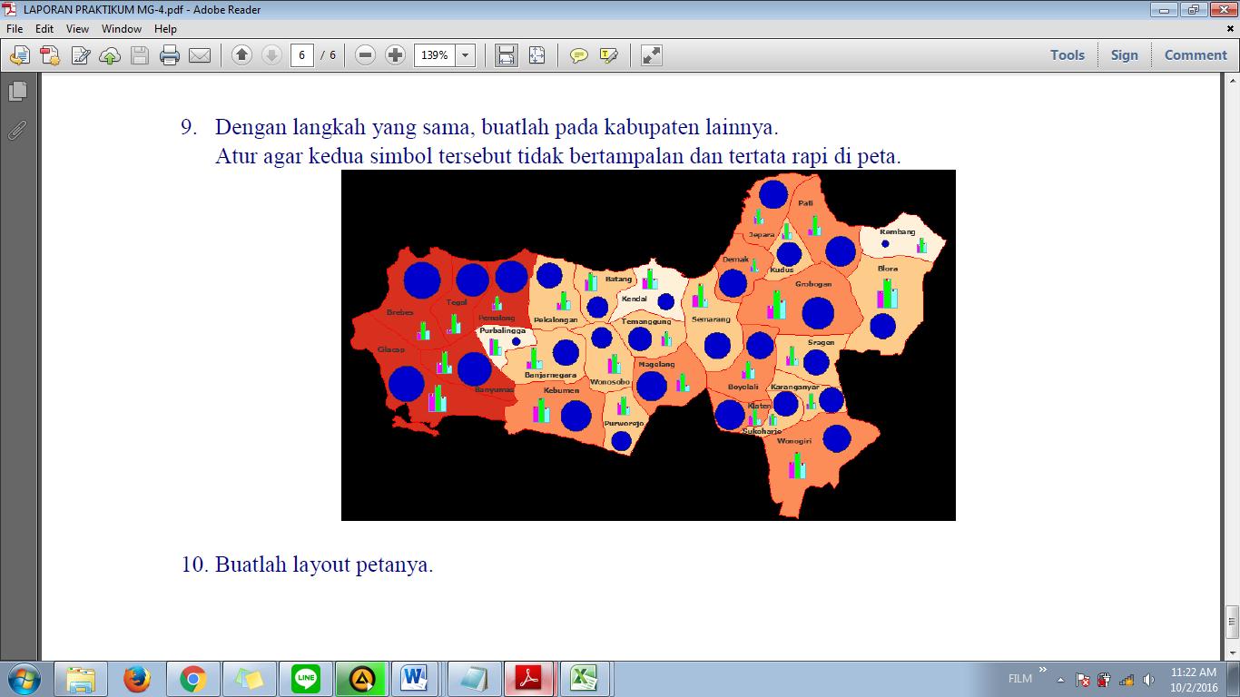 LAPORAN PRAKTIKUM KARTOGRAFI DIGITAL | Asli Anak Indonesia