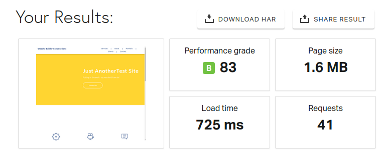 duda website maker speed test