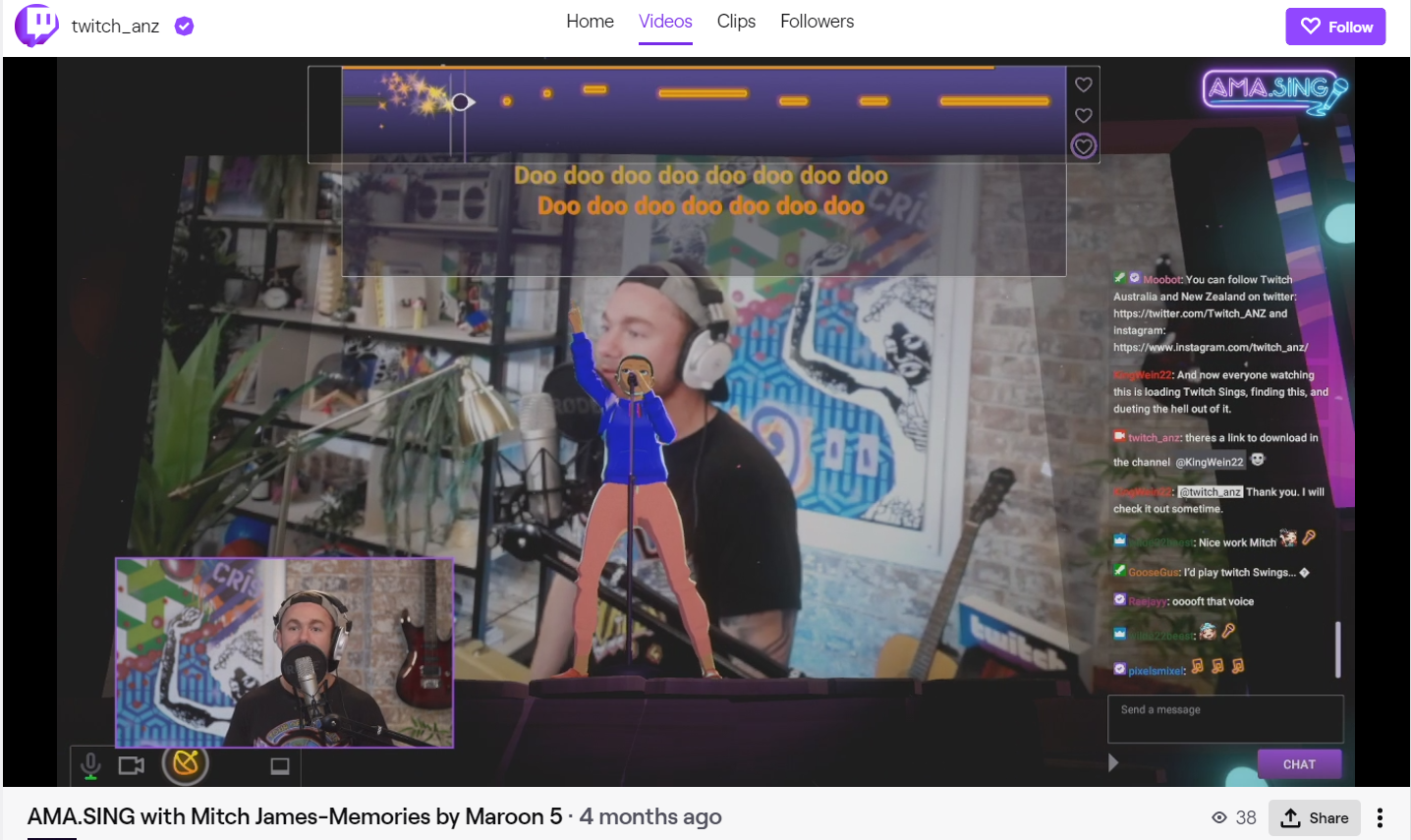 Twitch Sings: Memories by Maroon 5