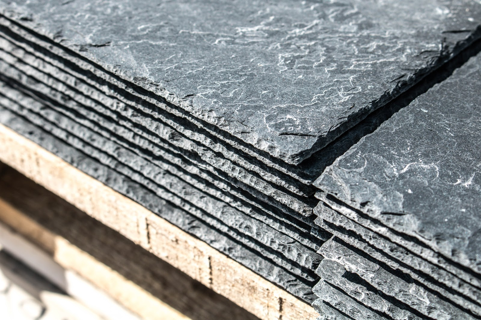 roofing shingles in a pile
