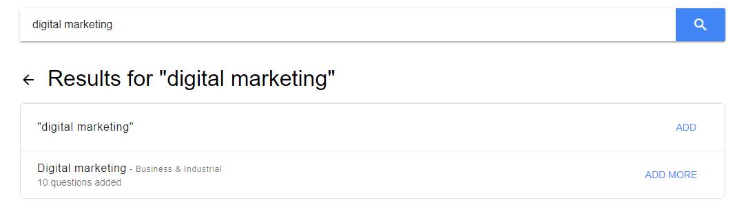 Google Question Hub Topics