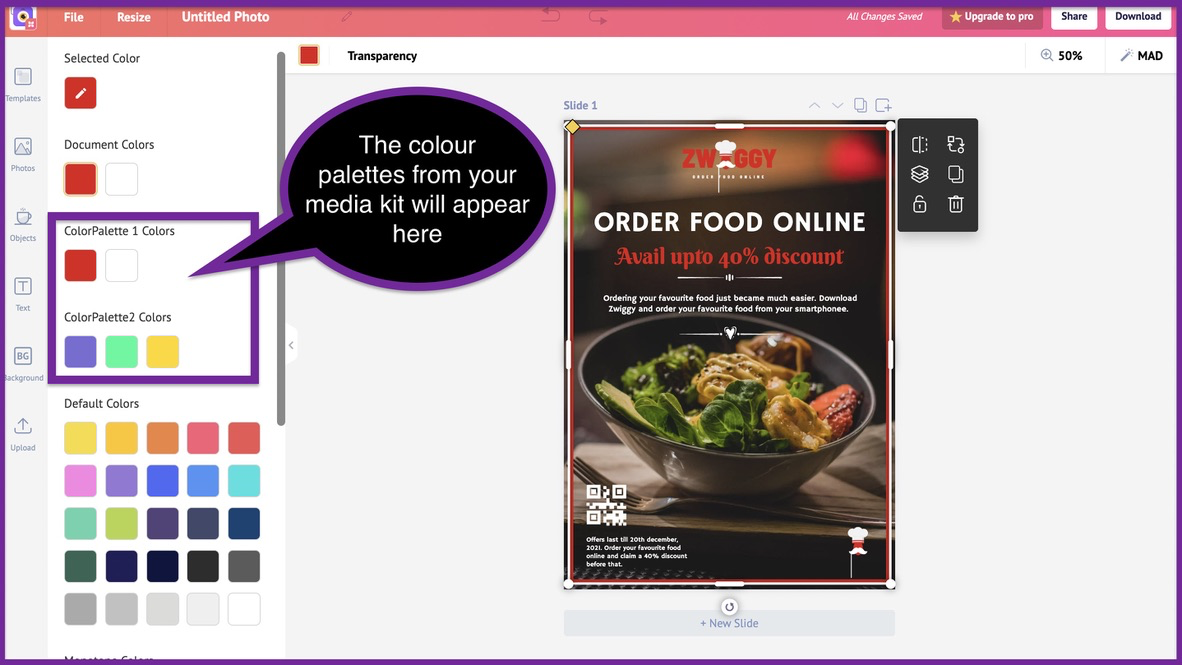 How to create a business flyer - step 8 -screenshot 3