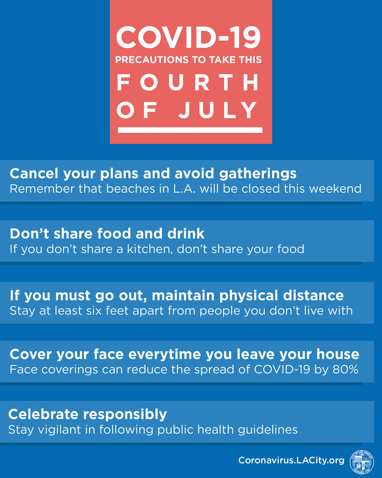 COVID-19 Fourth of July Precautions