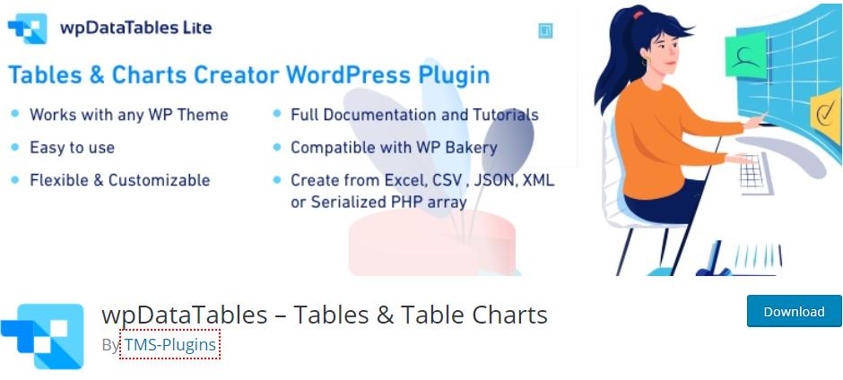 Top table plugin