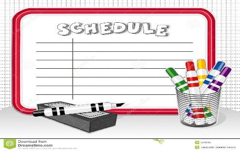 Class Schedule Clipart 1 Ideas To Organize Your Own Class Schedule Clipart  | Daily schedule kids, Kids schedule, Daily schedule