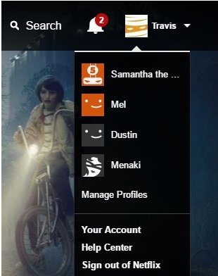 Change profile and delete recently watched shows in netflix