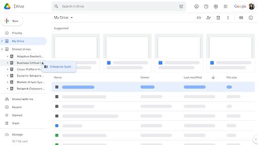 Nuevos controles en Google Drive y Unidades compartidas