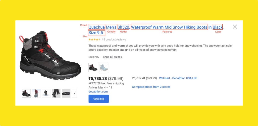 Google Shopping Feed Title