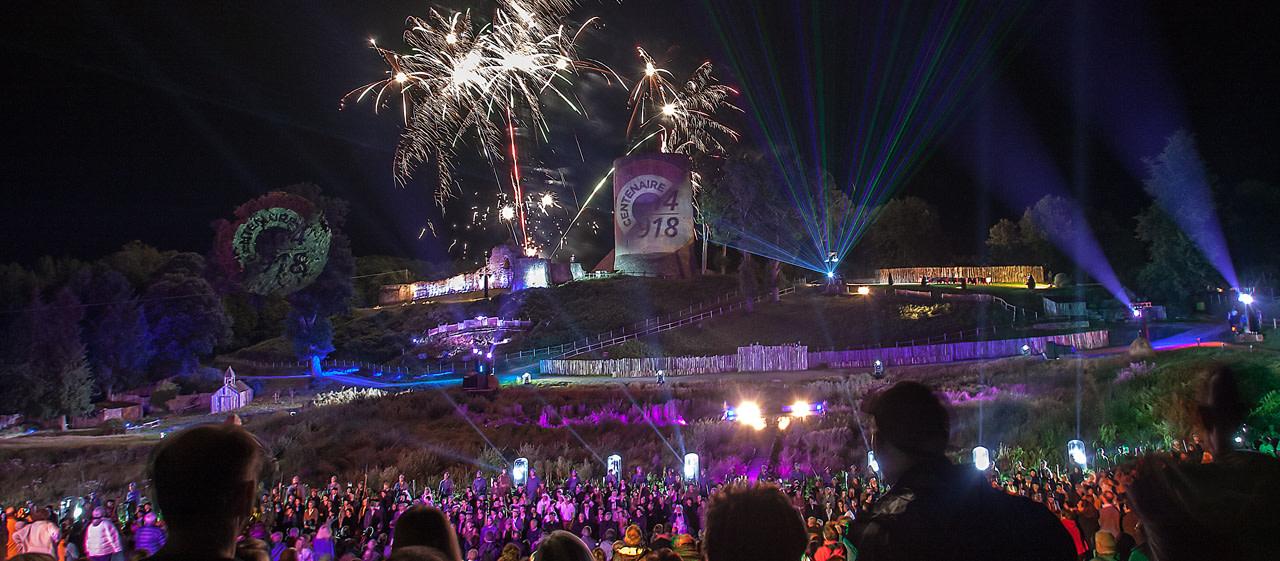 La Souterraine fresque historique de Bridiers tour de Bridiers festival son lumière pyrotechnie