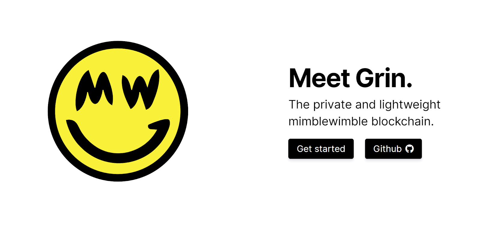 Grin homepage logo