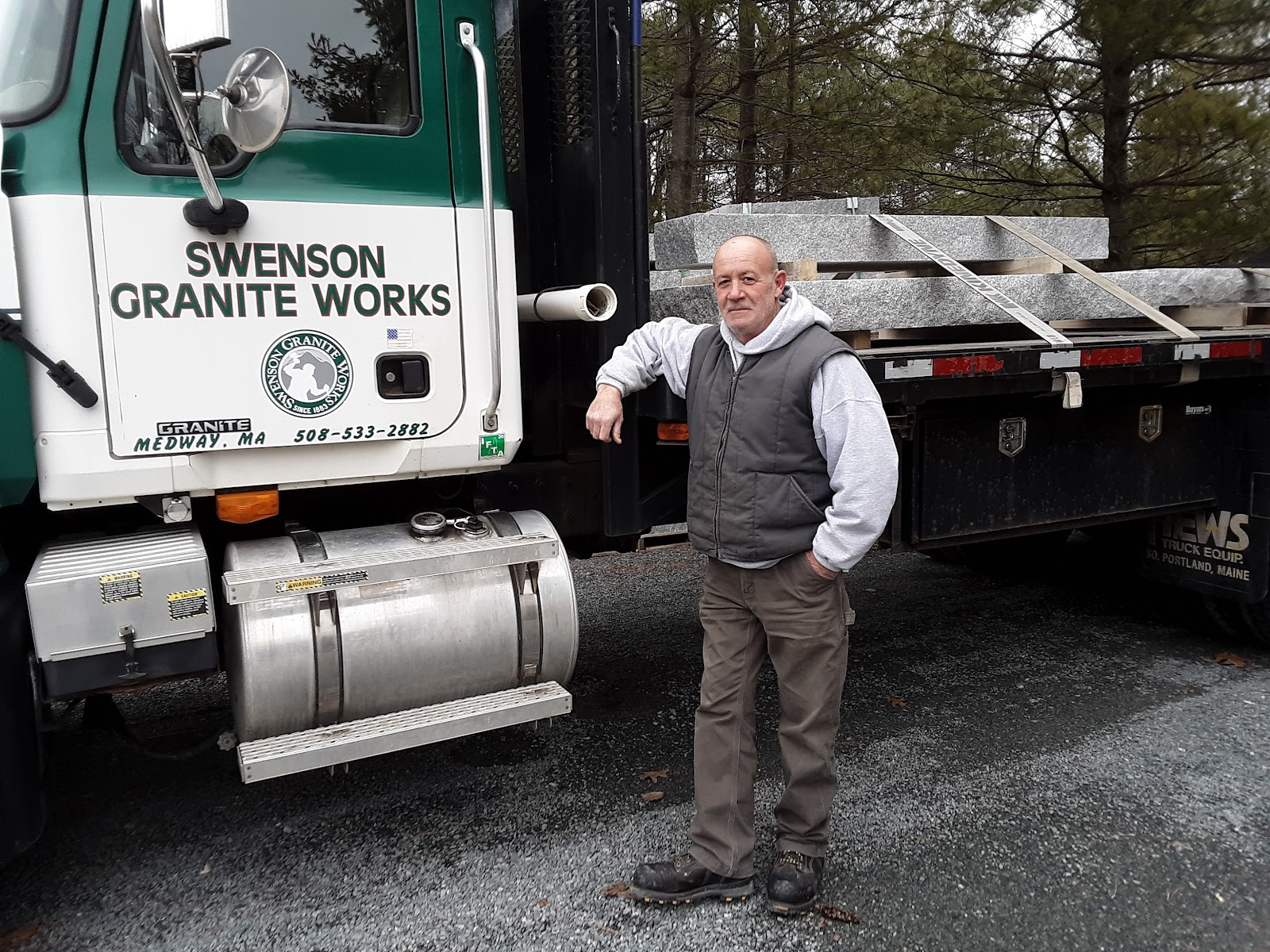 Dan Courtney, Swenson Granite Works Medway Store Truck Driver