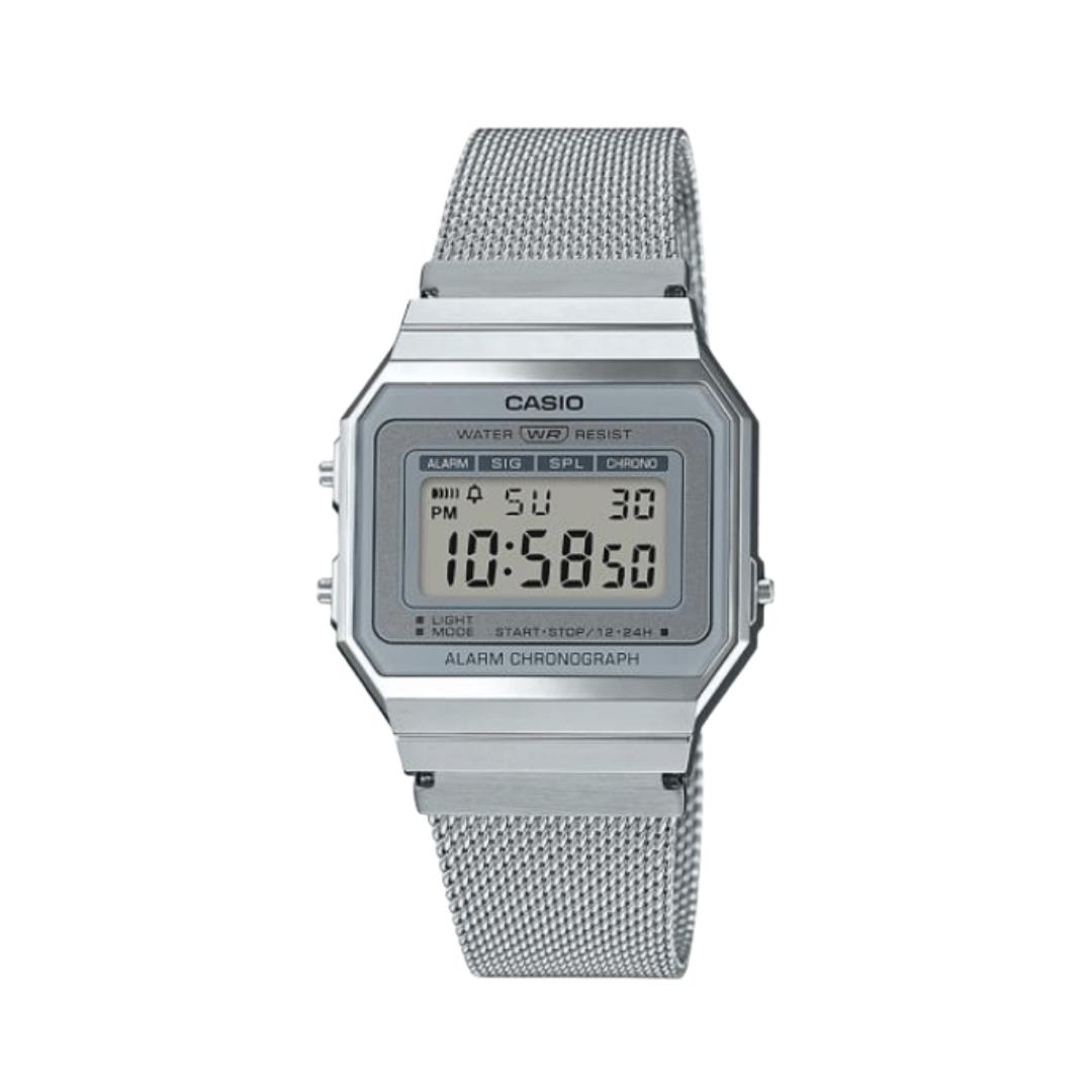 Silver digital watch from casio.