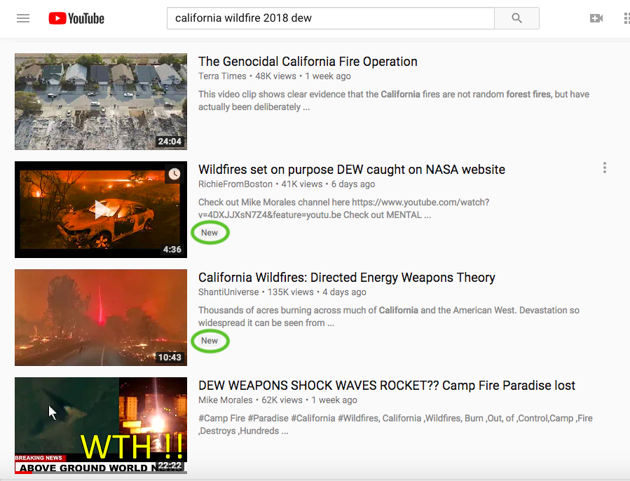 YouTube Lets California Fire Conspiracy Theories Run Wild - VICE