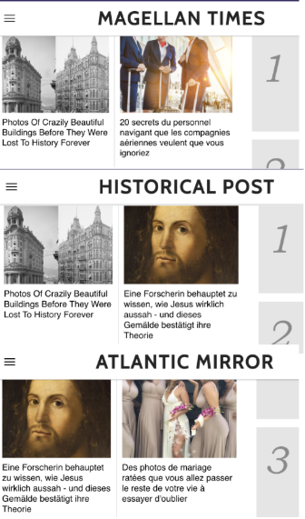 Websites with similar visual appearance to the magellantimes.com