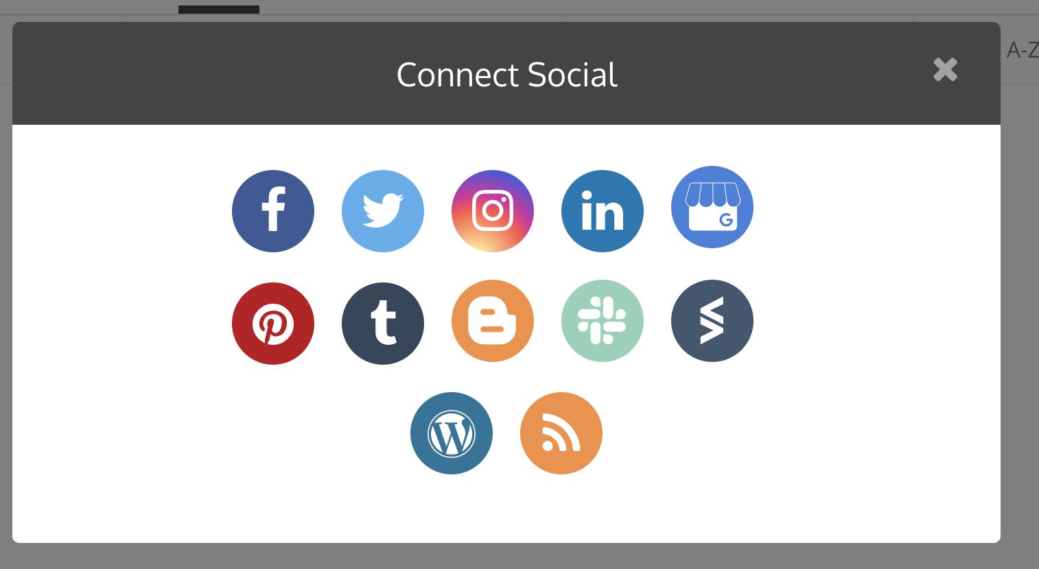 GMB connect socials