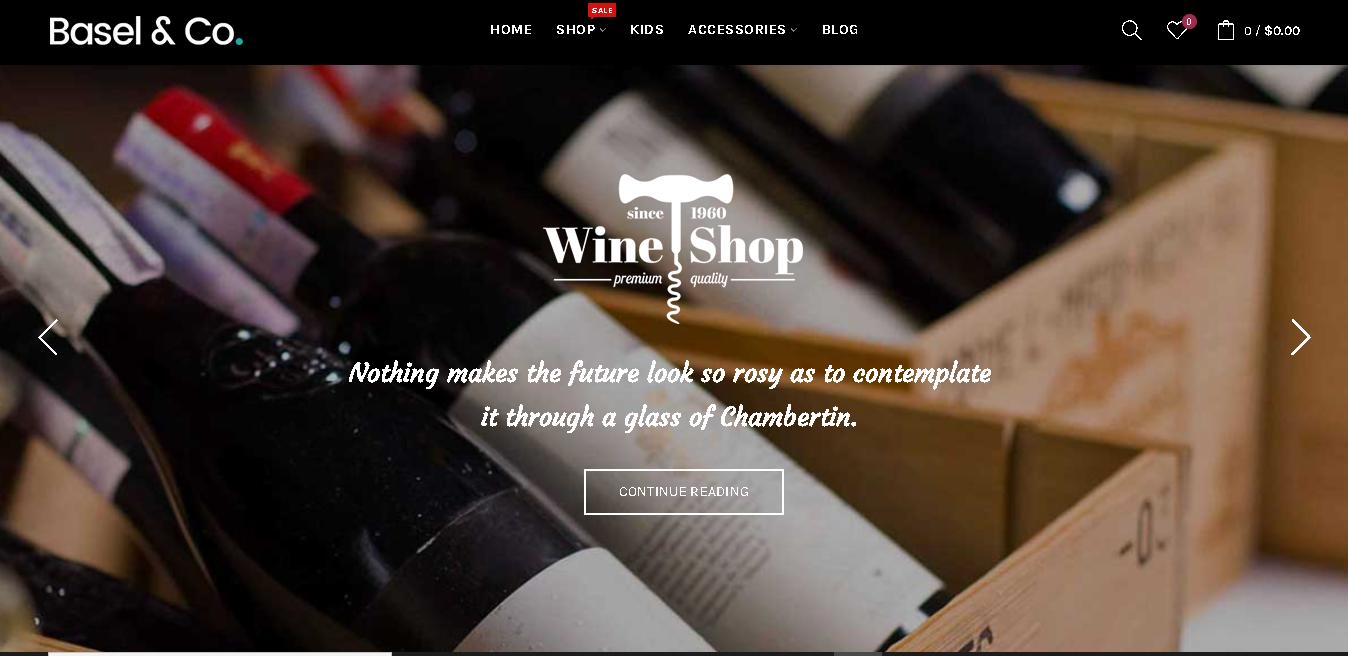 wine opencart theme basel