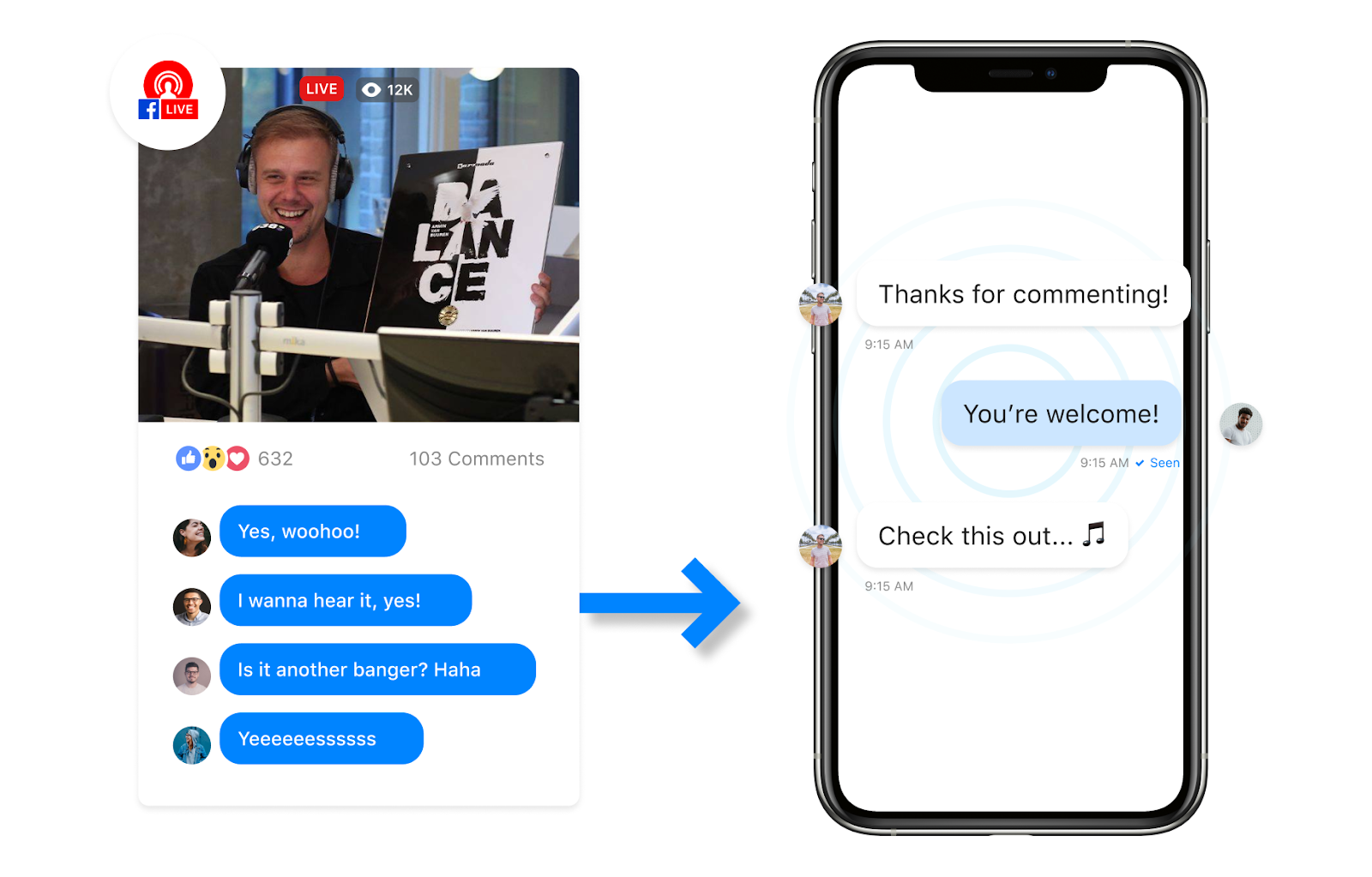Facebook-Live-stream-Comment-to-Messenger-campaign