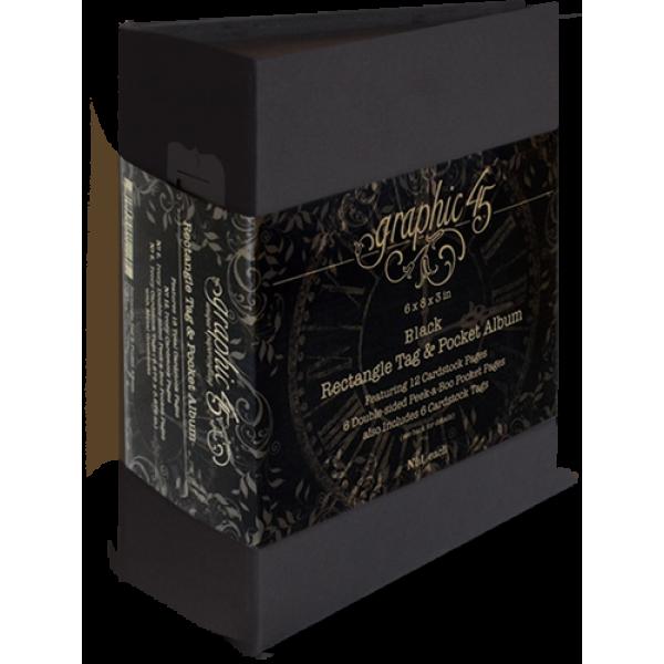 Rectangle Tag & Pocket Album—Black