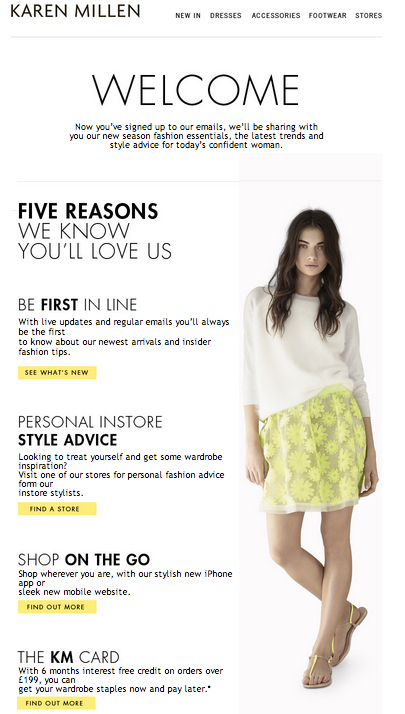 12 Noteworthy Examples Of Fetching Fashion Welcome Emails