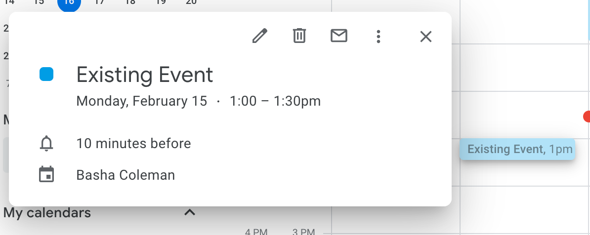 Edit an existing meeting in Google Calendar
