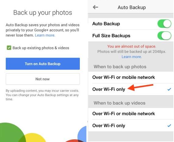Google+ tăng dung lượng lưu trữ trên iPhone đáng kể