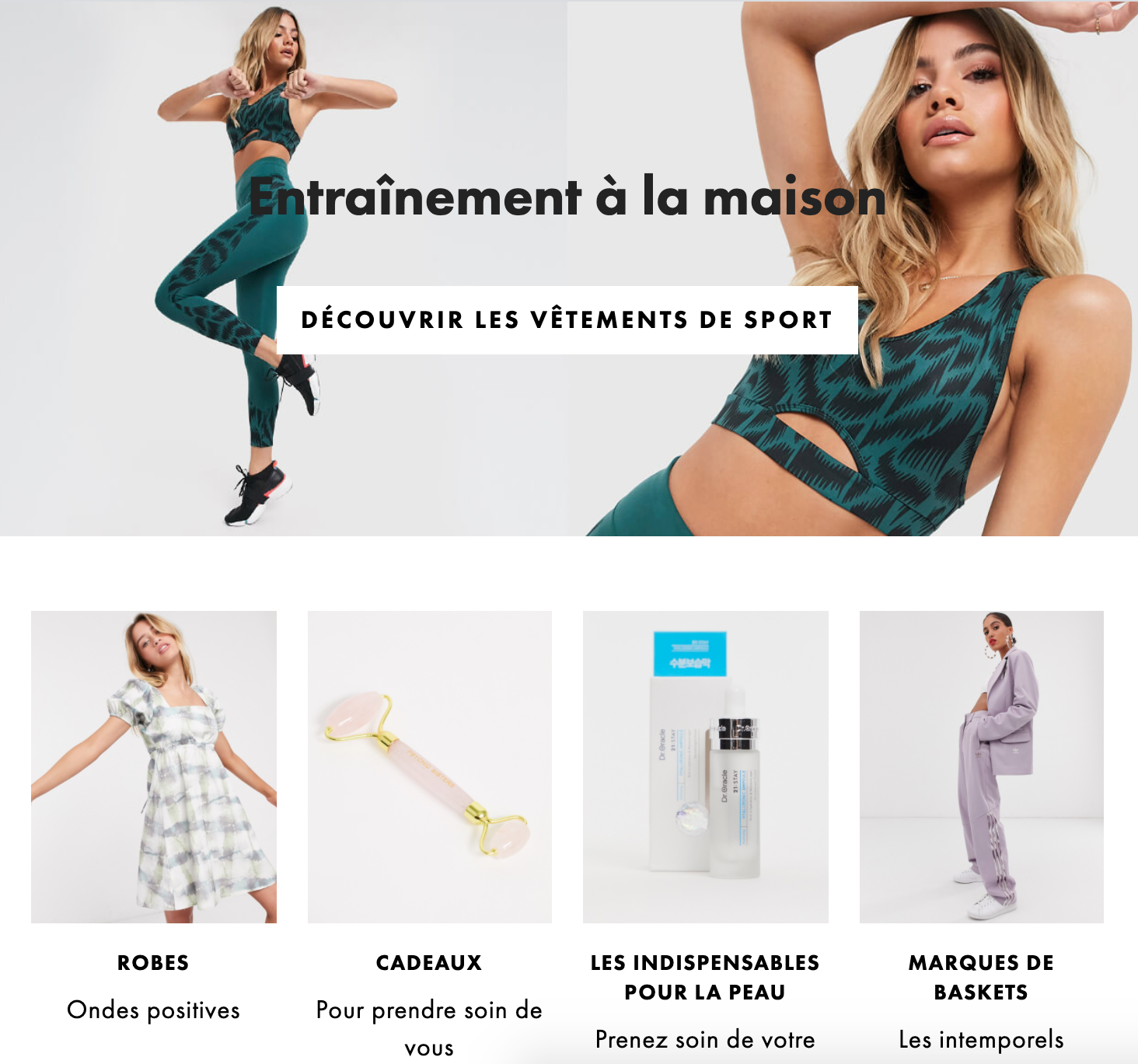 Collection de vêtements confortables de la marque Asos