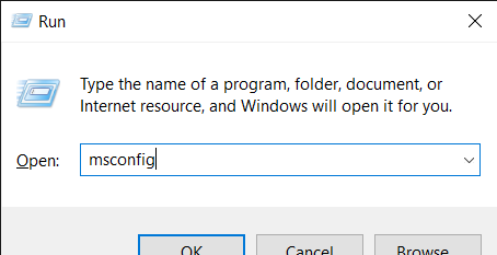 WMI Provider Host  - type in msconfig