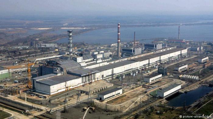Вид на Чернобыльскую АЭС с воздуха
