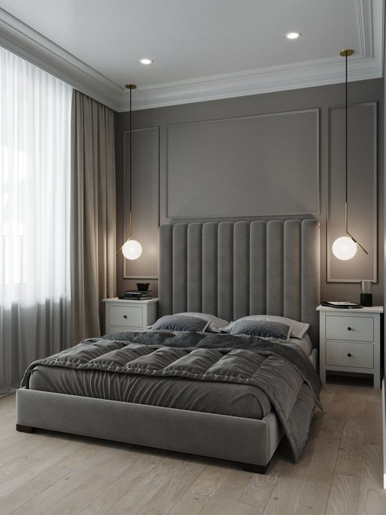 Keep the Neutral Tones for A Small Master Bedroom