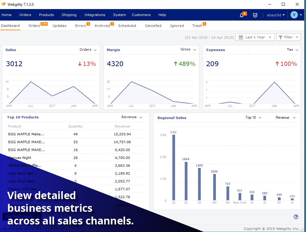 Webgility Dashboard