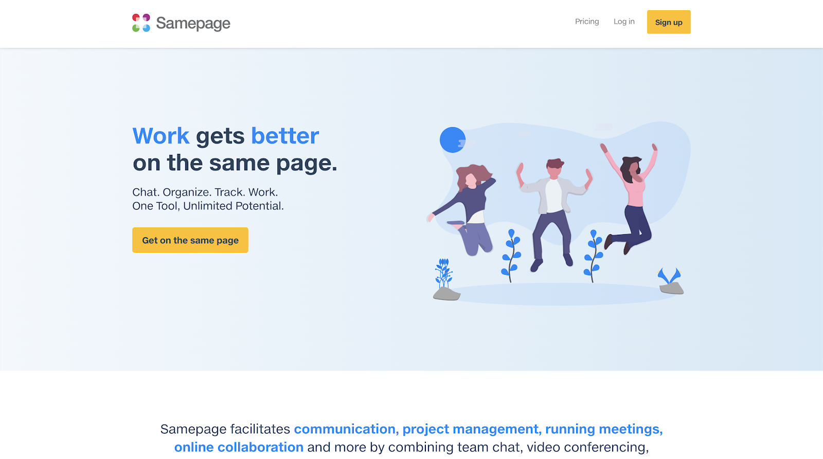 Samepage - Work gets better on the same page