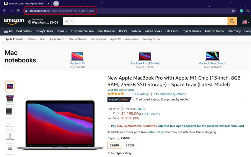 macbook pro URL