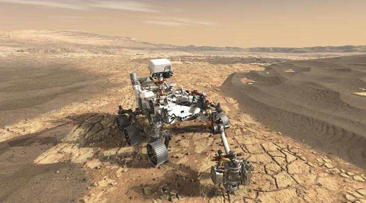 Hình ảnh robot tự hành sẽ lên sao Hỏa năm 2020 do NASA công bố
