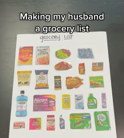 Marriage and Martini's grocery list