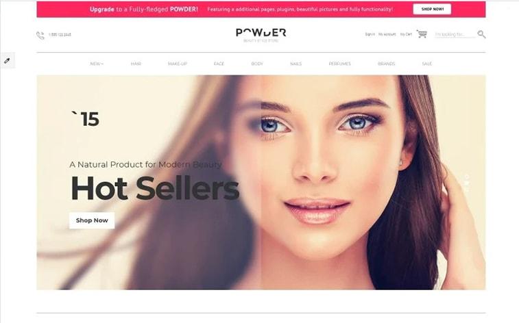 лучший бесплатный ботстрап тема шаблон веб-сайт уход за женщинами кометика макияж электронная торговля