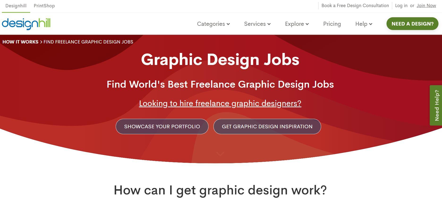 Designhill's website screenshot