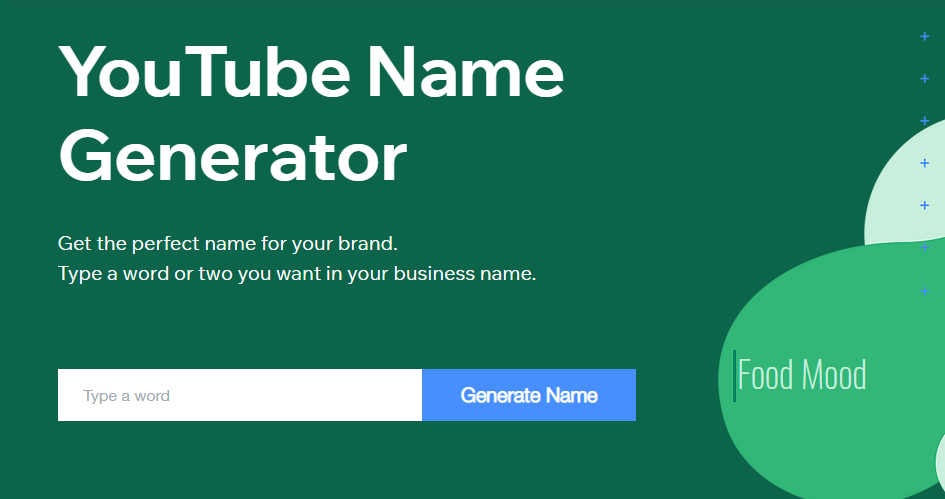 youtube channel name generator by wix