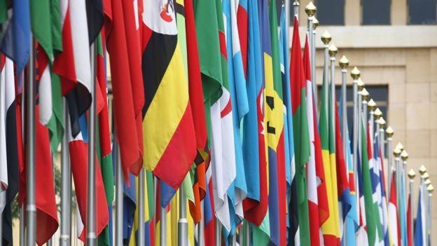 ONU inclui 193 países que são membros efetivos e dois Estados não-membros, a Santa Sé e a Palestina (Foto: Getty Images via BBC )