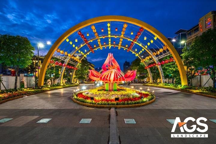 Công trình Đường hoa Nguyễn Huệ nổi tiếng của công ty AGS