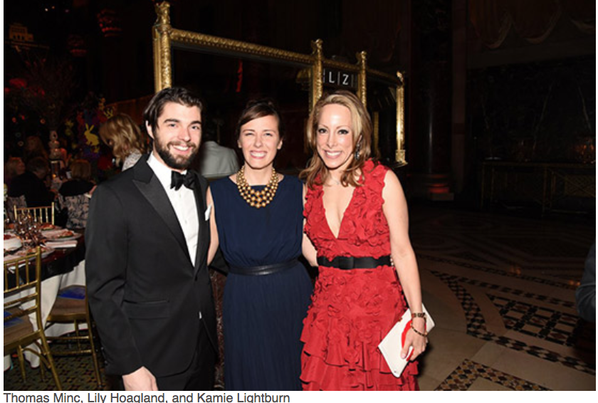 Karen Klopp, Hilary Dick article for New York Social Diary, What to wear to a black tie gala for Lenox Hill Neighborhood Association.   Thomas Minc, Lilv Hoaglan, Kamie Lightbum.