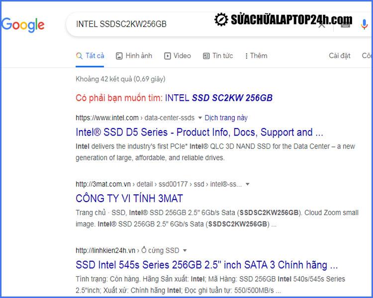 Tra cứu Google tên mã hiệu ổ cứngđể tìm hiểu thông tin