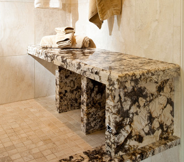 granite shower benches