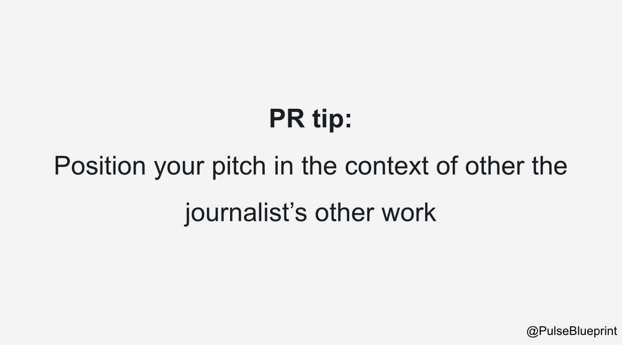 pay attention to the journalist's other work