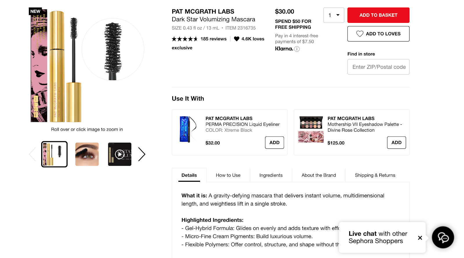 best product detail page examples sephora